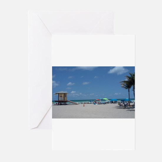 HOLLYWOOD BEACH Greeting Cards