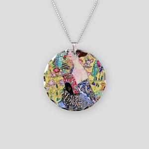 Klimt Necklace Circle Charm