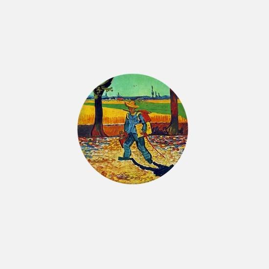 Van Gogh Painter On The Road Mini Button