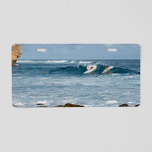 Hawaiian Surfers Aluminum License Plate