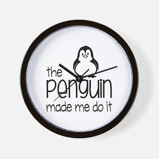 Funny Penguin Wall Clock
