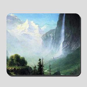 Albert Bierstadt Staubbach Falls Mousepad