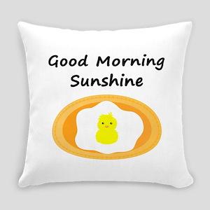 Good Morning Sunshine Chick Everyday Pillow
