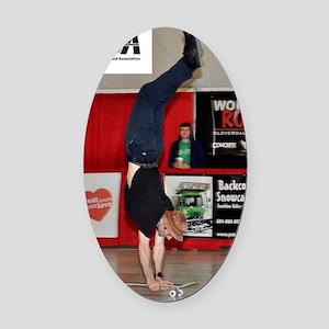 Darryl Grogan - English handstand2 Oval Car Magnet