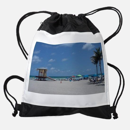 HOLLYWOOD BEACH Drawstring Bag