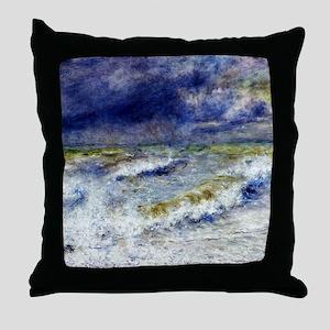 Renoir Seascape Throw Pillow