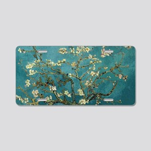 Van Gogh Almond Branches In Aluminum License Plate