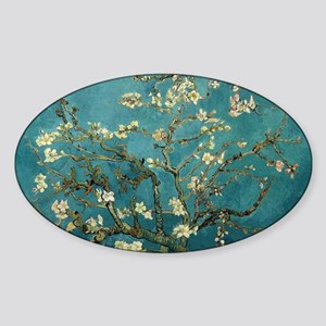 Van Gogh Almond Branches In Bloom Sticker (Oval)