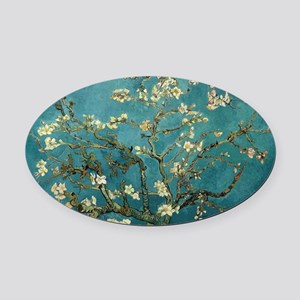 Van Gogh Almond Branches In Bloom Oval Car Magnet
