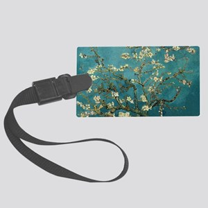 Van Gogh Almond Branches In Bloo Large Luggage Tag