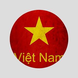 """Grunge Vietnam Flag 3.5"""" Button"""