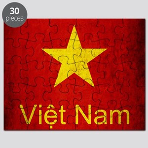 Grunge Vietnam Flag Puzzle