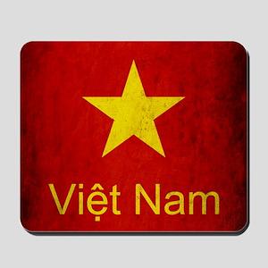 Grunge Vietnam Flag Mousepad