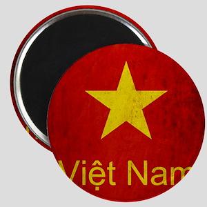 Grunge Vietnam Flag Magnet