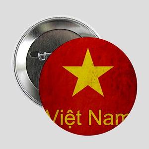 """Grunge Vietnam Flag 2.25"""" Button"""