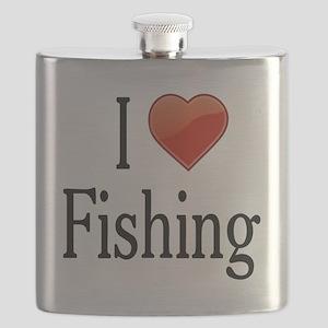I Love Fishing Flask