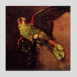 The Green Parrot Tile Coaster