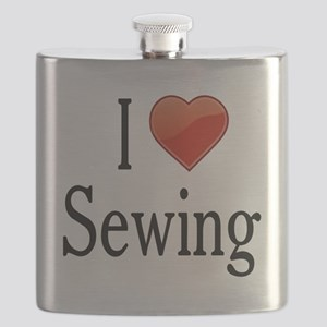 I Love Sewing Flask