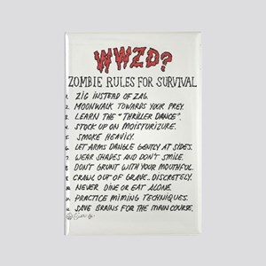 WWZD what would zombie do Rectangle Magnet