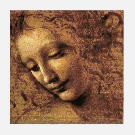 Leonardo Da Vinci La Scapigliata Tile Coaster