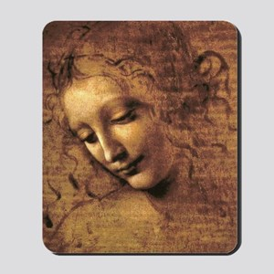 Leonardo Da Vinci La Scapigliata Mousepad