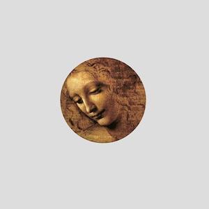 Leonardo Da Vinci La Scapigliata Mini Button