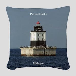 Poe Reef Light Woven Throw Pillow