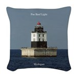 Poe Reef Light Woven Throw Pillow