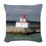 Port Colborne Outer Light Woven Throw Pillow