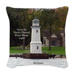 North Channel Front Range Light Woven Throw Pillow