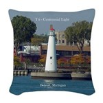 Tri Centennial Light Woven Throw Pillow