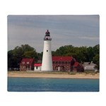 Fort Gratiot Lighthouse Throw Blanket