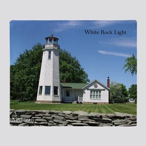 White Rock Light Throw Blanket