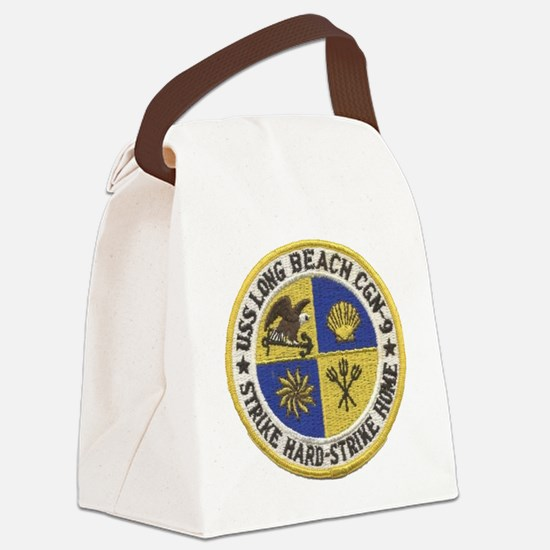 uss long beach patch transparent Canvas Lunch Bag