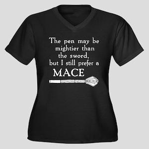 Mace for Dar Women's Plus Size Dark V-Neck T-Shirt