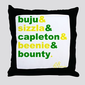 90s Dancehall Throw Pillow