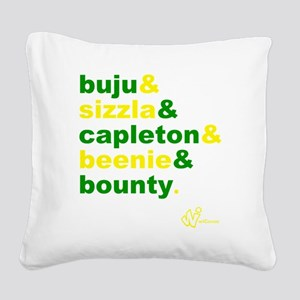 90s Dancehall Square Canvas Pillow