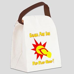 Cabana Man Dan Flip Flop Chop  Canvas Lunch Bag