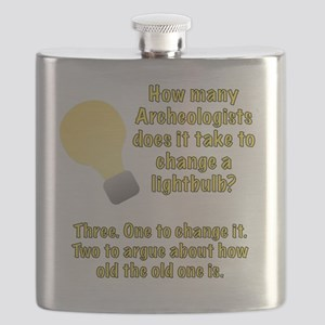 Archeologist lightbulb joke Flask