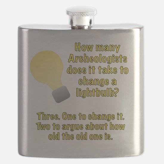 Archeologist lightbulb joke Flask