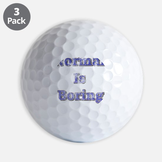 Vintage Normal is Boring Golf Ball