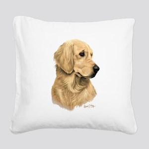 Golden Retriever Square Canvas Pillow