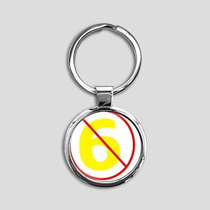 Anti-Sixer Round Keychain