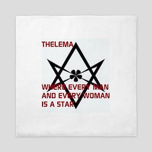 Thelema-is a star Queen Duvet