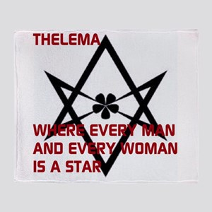 Thelema-is a star Throw Blanket