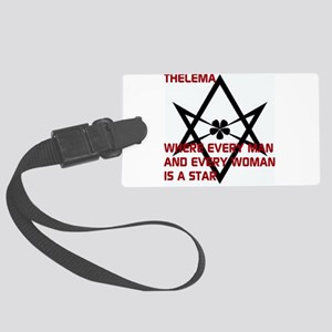 Thelema-is a star Luggage Tag