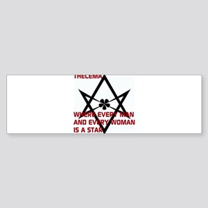 Thelema-is a star Bumper Sticker