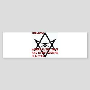 Thelema-is a star Bumper Sticker