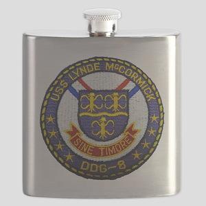 uss lynde mccormick patch transparent Flask