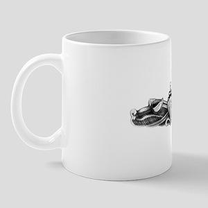 uss mississippi white letters Mug